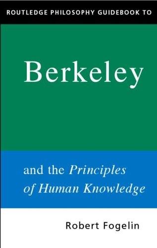 【英】Routledge哲学指南之:贝克莱与《人类知识原理》