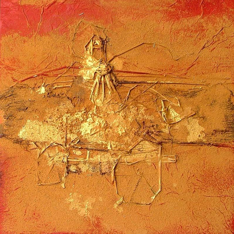 抽象农村绘画作品